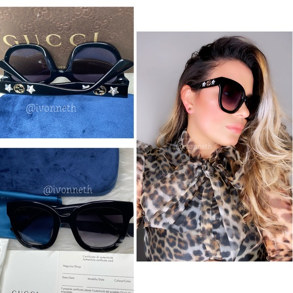 New 💯Authentic Gucci Black Gg0208s
